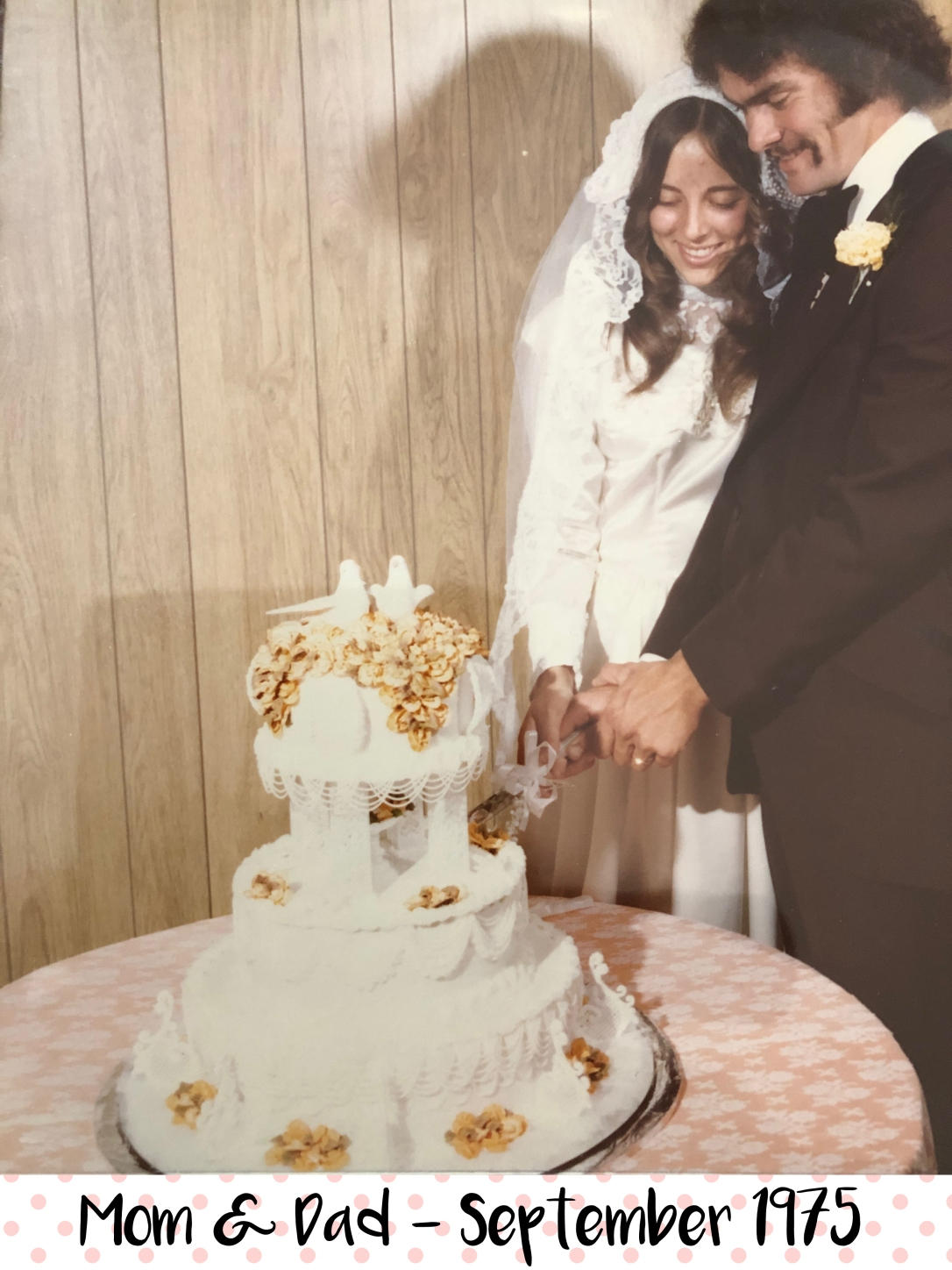 Mom Dad Wedding Cake